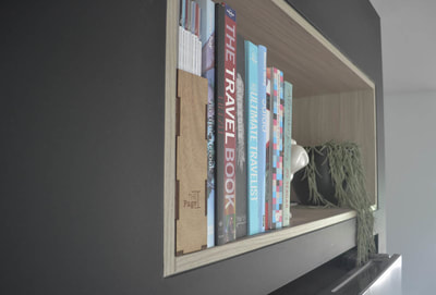 Book case above fridge by 3D Constructions